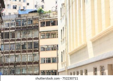 Old Buildings in Sai Ying Pun, Hong Kong