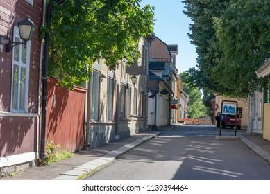 Old buildings in Sater in Sweden