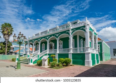 The old buildings of Scharloo district of Willemstad  Views around the small Caribbean island of Curacao
