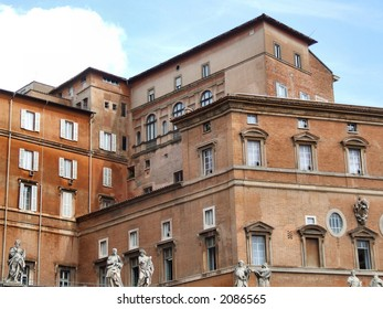 Old buildings in the Vatican city, Catholic capital. Italy, Europe.