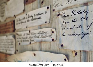 the old bulletin board