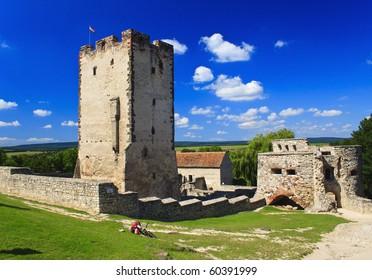 Old burg in Nagyvazsony in sommer, Hungary