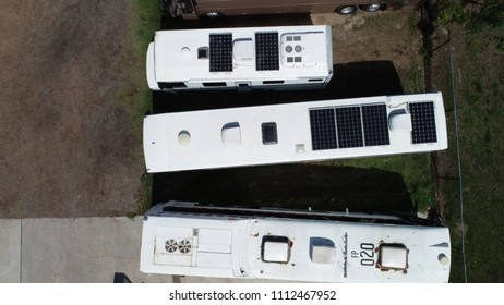 Old bus, RVs and Campervans