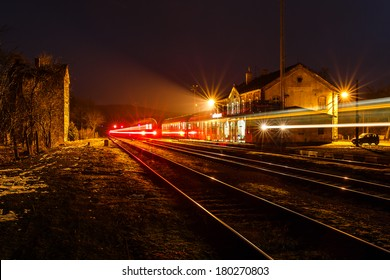 Old bussy railway station in North Bohemia (Hodkovice nad Mohelkou)