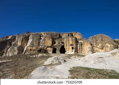 Old Byzantian church in Phrygian valley in the Afyonkarahisar