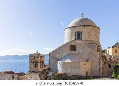 old Byzantine church in town of Monemvasia, Greece