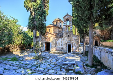 old byzantine monastery in Kaisariani, Athens, Greece