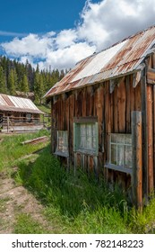 Old cabin in the Idaho ghost town of Burgdorf