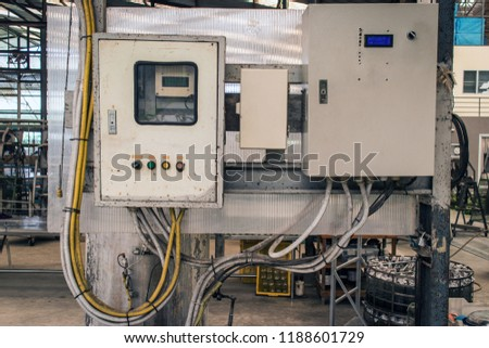 Fantastic Old Cabinets Wiring Piping Electrical System Stock Photo Edit Now Wiring Database Pengheclesi4X4Andersnl