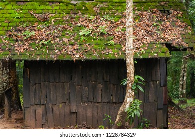 Old cabin,Political And Military School at Phu Hin Rong Kla National Park Phitsanulok Thailand