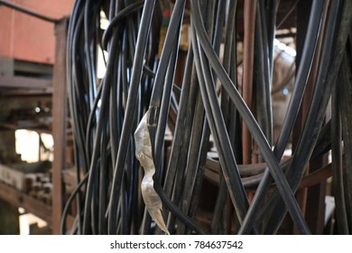 Old cable in factory
