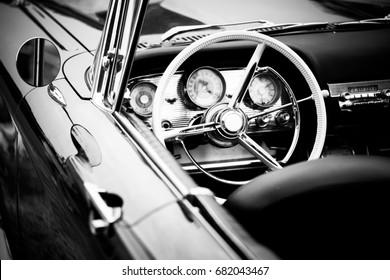 old cabriolet car close up