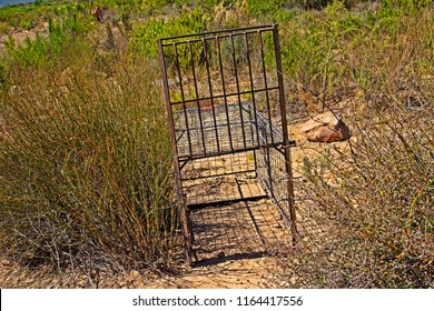 Old cage trap for catching animals