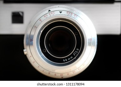 Old camera with a manual lens photography equipment for capturing images