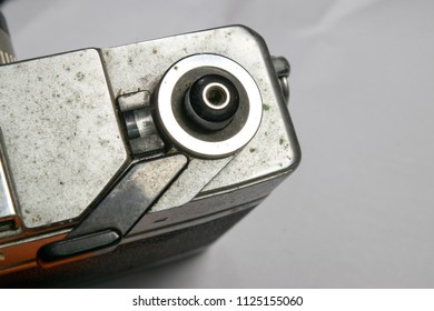 old camera shutter button with dusty