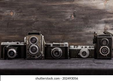 old cameras retouching Vintage