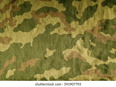 Old Camouflage Uniform Cloth Pattern Abstract Background And Texture For Design