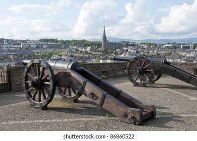 Old cannons in Londonderry