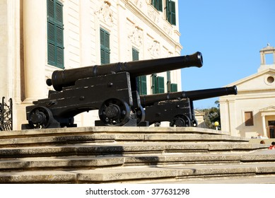 The old cannons in Valleta, Malta
