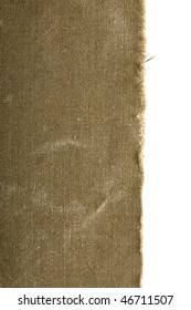 old canvas edge fabric texture for old fashioned background
