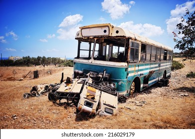 old car, bus, metal