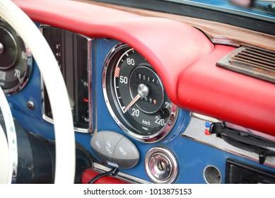 Old car, classic car in Spain