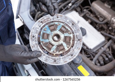 Old car clutch plate disc