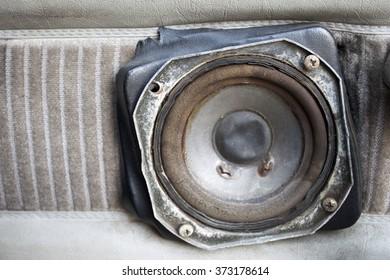 Old car door speakers.