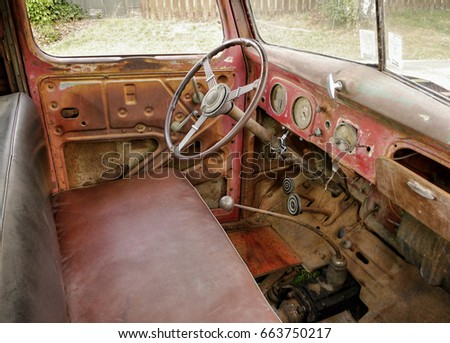 Old Car Interior Cabin Stock Photo Edit Now 663750217 Shutterstock