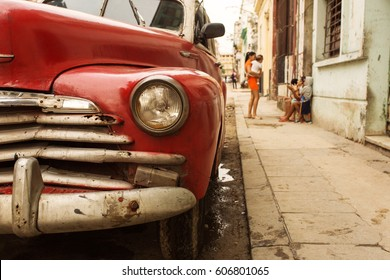 Old car on street of Havana, Cuba