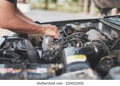 Old car repair concept