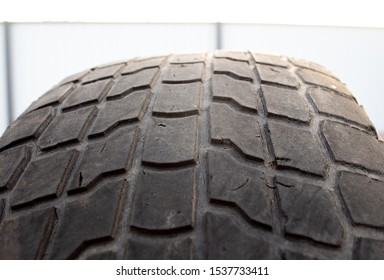 old car tire. worn tread