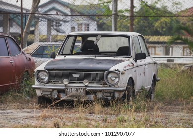 Old car, waiting for a break in Thailand.
