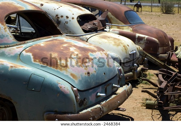 Old Car Wrecks Stock Photo (Edit Now) 2468384