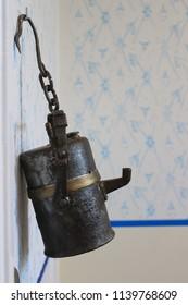 Old carbide lamp