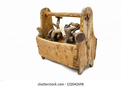 Old carpenter tool box