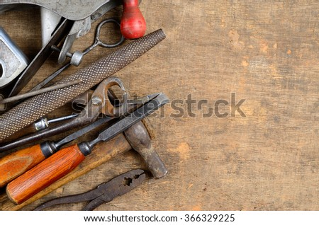 Old Carpenters Tools Working Wood Stock Photo Edit Now 366329225