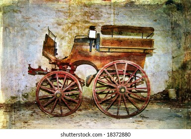 old carriage - artistic picture in vintage style