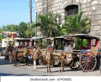 Old carriage or Calesa in the Philippines