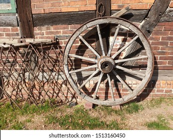 old carriages wooden wheel decoration