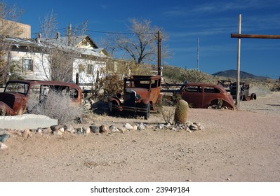 old cars, Hackberry, Arizona, USA