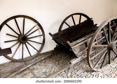 Old cart in the center of the city of Caracas from the famous Bolívar block, former farm of the Bolívar family