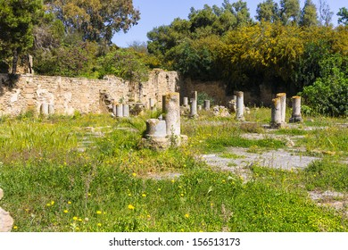 Old Carthage ruins in Tunisia