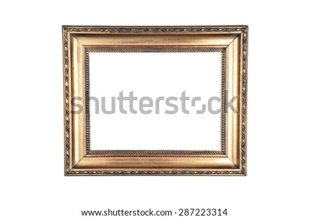 Old Carved Wood Frame Light Design Stock Photo (Edit Now) 287223314 ...