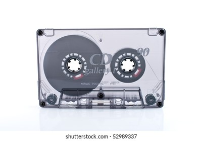 Old  cassette tape isolated over white background
