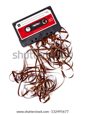 Old cassette tape with