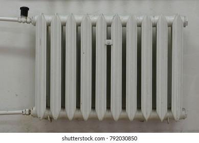 Old cast iron radiator