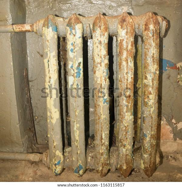 Cast Iron Paint >> Old Cast Iron Radiator Peeling Paint Stock Photo Edit Now