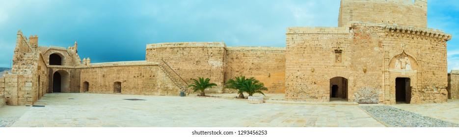Old castle Alcazaba of Almeria panoramic view, Spain