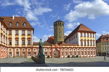 Old Castle of Bayreuth, Germany. Bayreuth is famous for its annual festival for operas of Richard Wagner.
